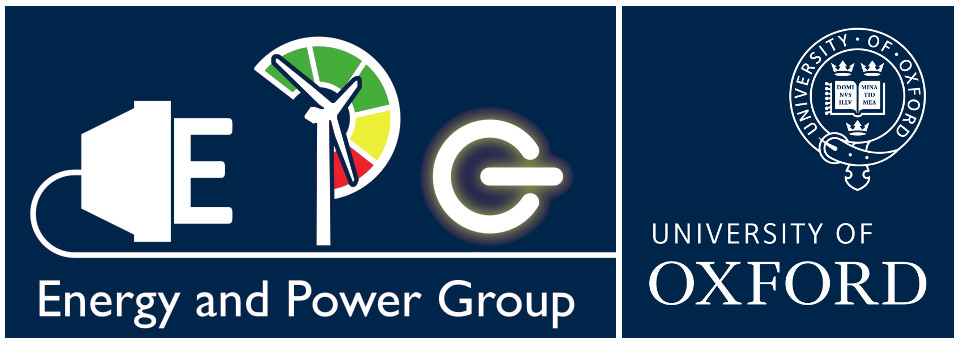 Energy and Power logo with the Oxford Uni logo